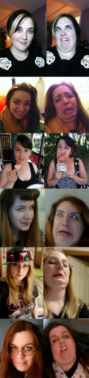 lissinator:  I told you I'd do it……..Pretty Girls making ugly faces, featuring myself (on top) and my friends lolif you can't laugh at yourself then life is pretty hard  A+ on your ugly