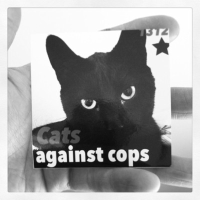 Mjau the police! #sticker #streetart #skåne #ftp #sweden #1213 #kiku #acab #cats #9lives #beentrill #lol