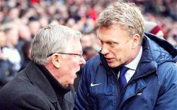 "in Fergie we proud, in Moyes we hope. Welcome to Old Trafford ""Theatre Of Dreams"", David Moyes :-)"