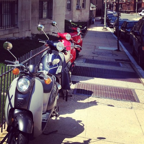 Scootertown in Adams Morgan. #adamsmorgan #dc