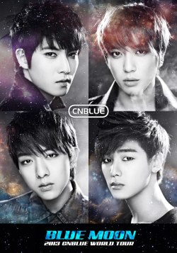 2013 CNBLUE BLUE MOON WORLD TOUR Official poster xD