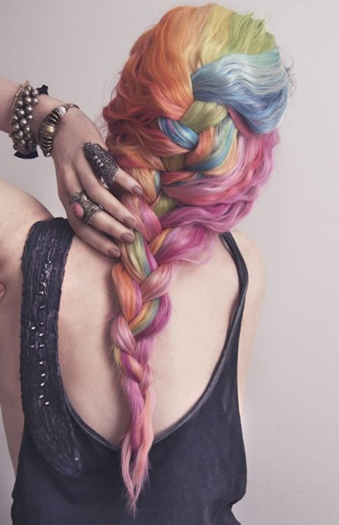I love this rainbow hair!