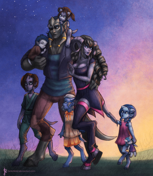 comegetthevoodoo:  Commission: Family by ~fadedkind