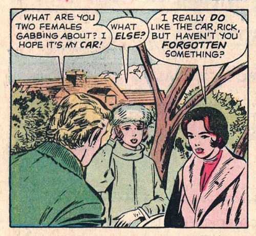 """WHAT ELSE?"" Teen-Age Romance #86 (1962) written by Stan Lee, pencils by Jack Kirby, inks by Vince Colletta"