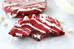 Red Velvet Cheesecake Cookies Recipe - Featured on Food2Fork.com