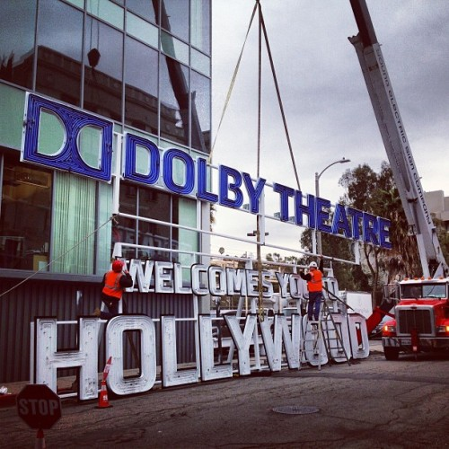 We are VERY excited to see and final phases of our new sign, adding the #dolbytheatre to LA's historic skyline! Lighting takes place on Thursday -stay tuned!