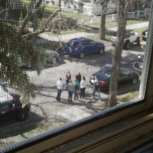 Street gangs outside my place. DT EDMONTON!