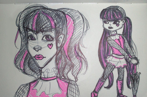 Quick sketches done at work of Draculaura!
