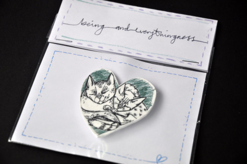 This is a cat badge in handmade packaging made from one of our illustrations. We'd love i if people gave us a follow or had a peek at our etsy site - www.etsy.com/shop/beingandeverthing ————————get your work featured by submitting it to designersof.com