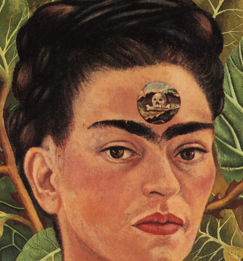Frida Kahlo - Thinking About Death (detail)