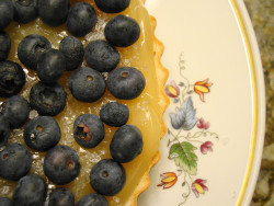 Nilla Cookie Tart with Vegan Lemon Curd and Baked Blueberry by Vegan Feast Catering on Flickr.
