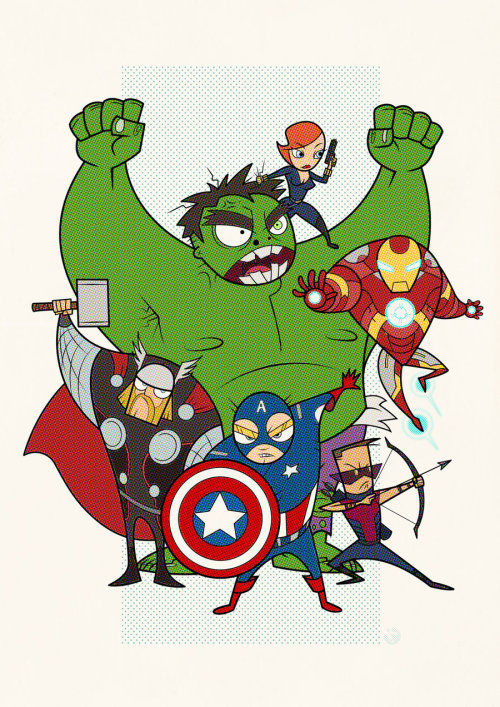 herochan:  The Avengers Created  by Keh Choon Wee (via:comicsforever)
