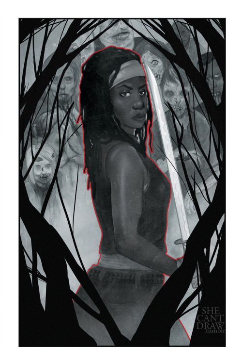 Michonne. One of my prints available next month and at Heroes Con in June!