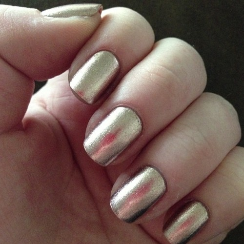 Metallic manicure today! Zelda by Julep from my May Julep Maven box. It's an amazing champagne metallic that only really needs one even coat. So far I have loved every color from my May Julep box. Three down, six to go :) #julep #julepmaven #zeldabyjulep #metallicmanicure #shortnails #naturalnails #nails #DIYmanicure #nailsofinstagram #nailstagram #nailpolish #nailobsessed