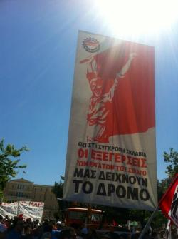 Mayday march on Athens Greece