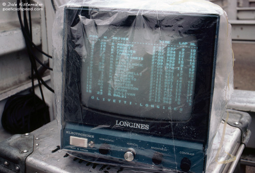 Timing screen, 1983 German Grand Prix.