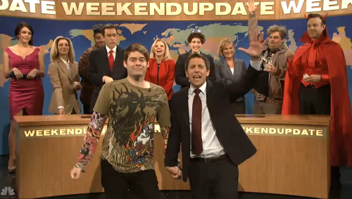 "Bill Hader steals the show in star-packed 'Saturday Night Live' sendoff (Photo: NBC) Ben Affleck joined the five-timers club as host, but departing castmember Bill Hader stole the show on ""Saturday Night Live's"" season 38 finale. Read the complete story."
