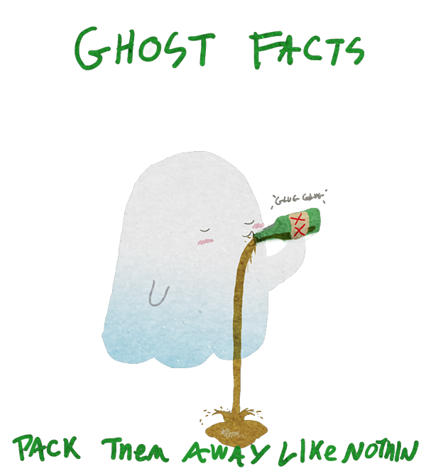 What are you doing, ghost!?!? I think you have a problem!