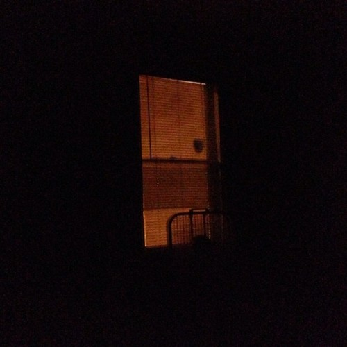I love having flashing lights outside my window when I'm trying to sleep.