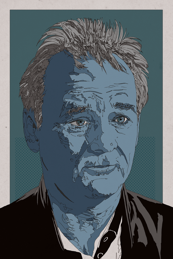 johnjpearson:  Old Blue Bill Murray