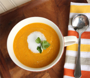 findvegan:  curried carrot quinoa soup