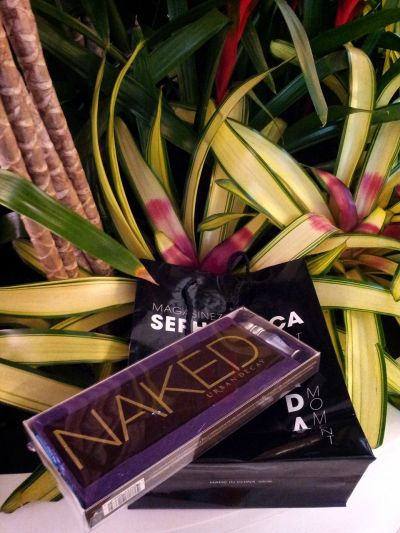 vitajulz:  Bf bought me Naked palette for our montho :O #UrbanDecay #makeup #Sephora