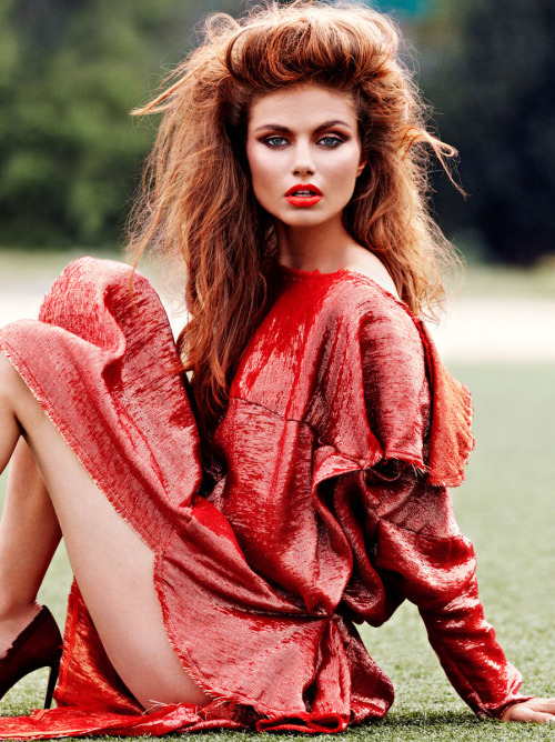 fromobscuretodemure:  Aiste-Regina Kliveckaite by James Macari for Glamour Spain September 2012.