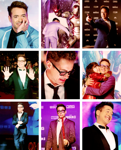 lmnpnch:  Robert at various Iron Man 3 related events in Seoul & Beijing (April 2013)