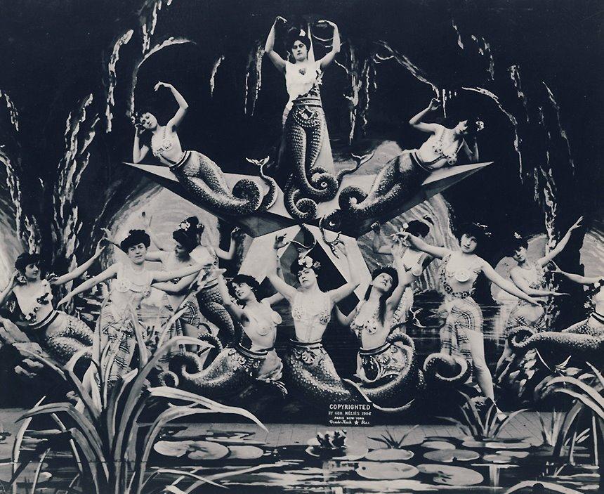 Mermaids in George Melies' 1906 film adaption of 20,000 Leagues Under The Sea.