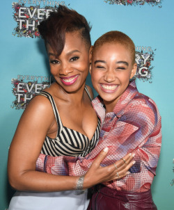 celebsofcolor:  Anika Noni Rose and Amandla Stenberg attend 'Everything, Everything' Screening and Brunch at W Hotel Atlanta Midtown on April 23, 2017 in Atlanta, Georgia.
