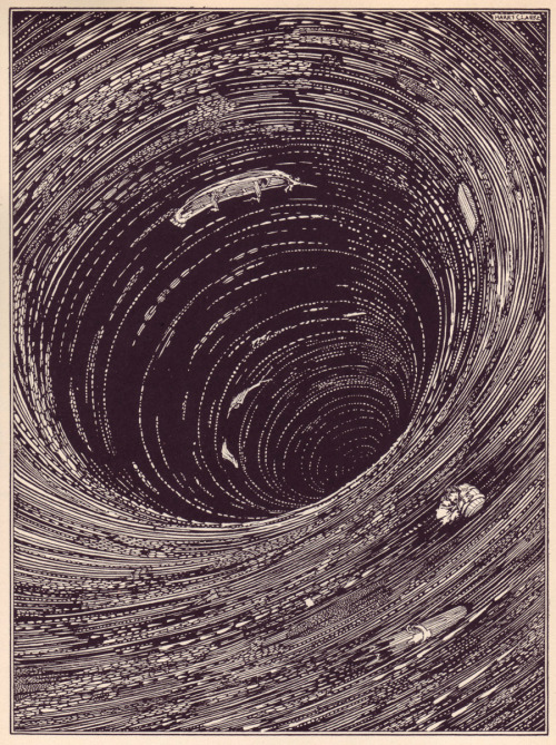 "Harry Clarke: Ill. for E.A. Poe's ""A Descent into the Maelström"", 1919"