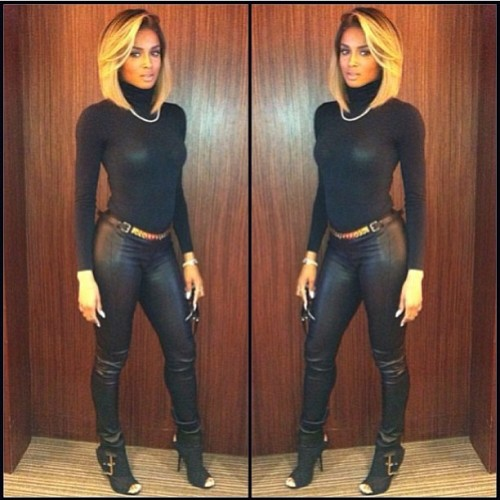 pinklotusflowers:  curvesincolor:  Ciara.  She looks like a tranny but still fierce.