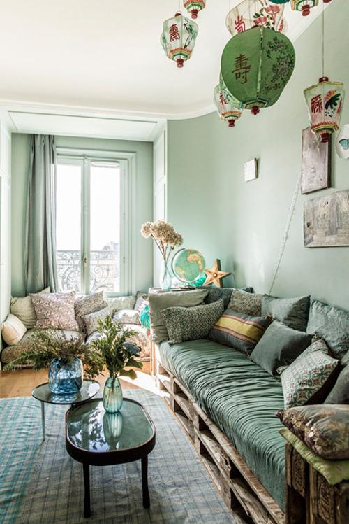 boho bohemian asian fusion home decor home inspiration interiors green natural living alternative living DIY cushion