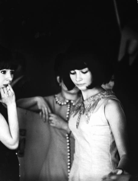 theswinginsixties:  Young Parisian women at a discotheque, 1963.