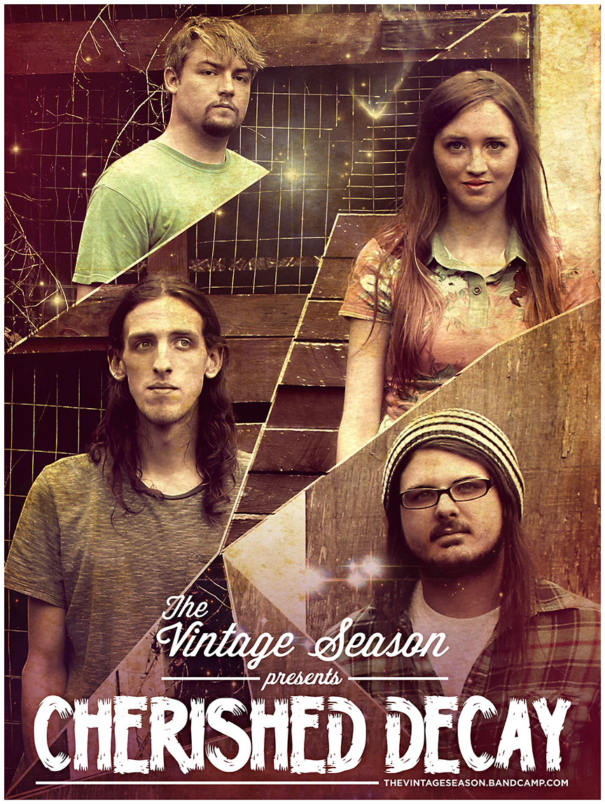 Poster design by Derek Brown for The Vintage Season. Like them on Facebook | Follow them on Twitter | Listen to them on BandCamp