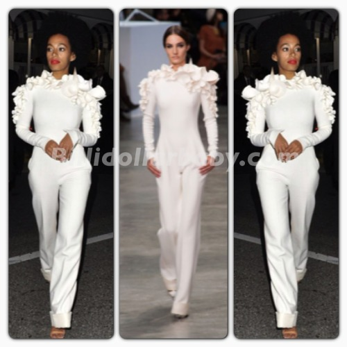 billidollarbaby:  Solange Knowles in Stéphane Rolland at the 2013 Cannes Film Festival