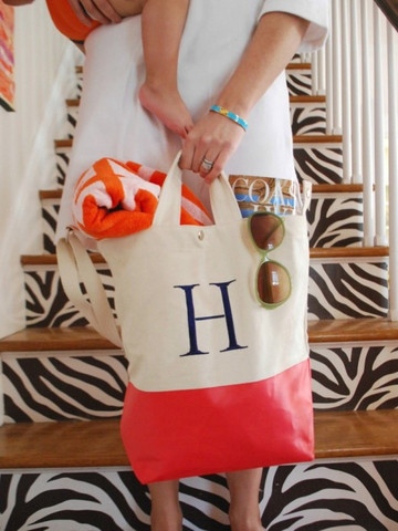 shopdandy:  (via Monogram Color Dipped Canvas Tote | Shop Dandy LLC)