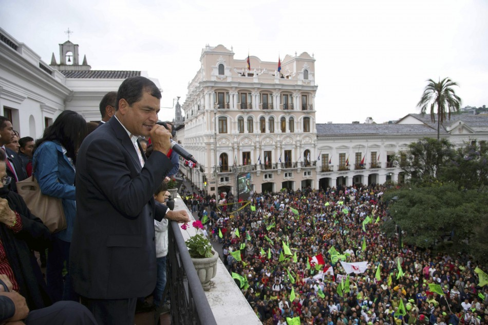 Ecuador: Rafael Correa's Electoral Victory 'for Hugo Chavez and Latin America' http://www.ibtimes.co.uk/articles/436361/20130218/ecuador-correa-election-chavez-venezuela-alba.htm