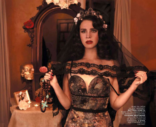 Lana Del Rey in the April 2013 issue of L'Officiel Paris. Photographed by Nicole Nodland  holy