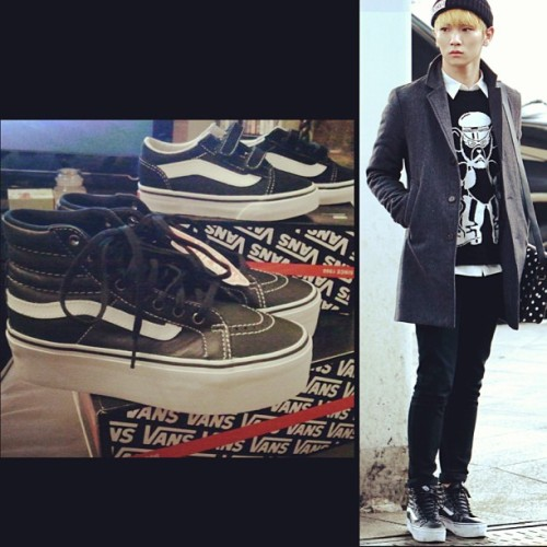 Diego and I got some new matching vansMine are exactly like SHINee's Key @bumkeyk