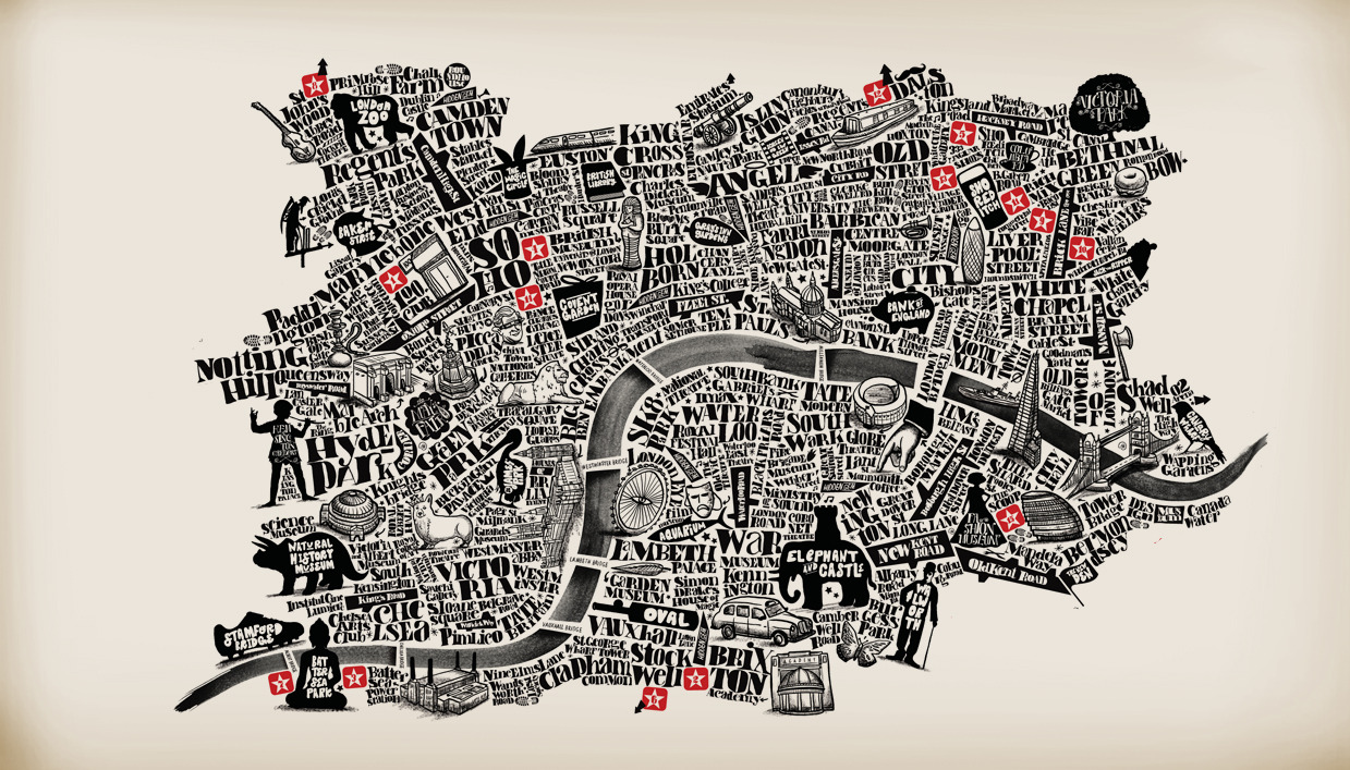 Converse London typography map.