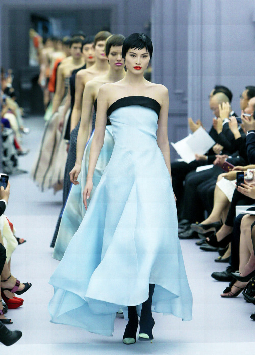 Sui He leading the finale at Dior Haute Couture Spring 2013, Shanghai.