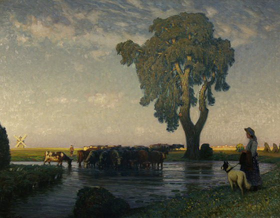 A Summer Evening, Hans Hartig. Germany (1873 - 1936)