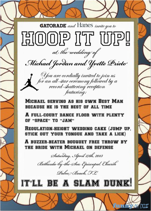 Michael Jordan's Wedding Invitation Michael Jordan recently married his longtime girlfriend, and he meticulously planned every detail of the lavish event, including the design of these invitations!