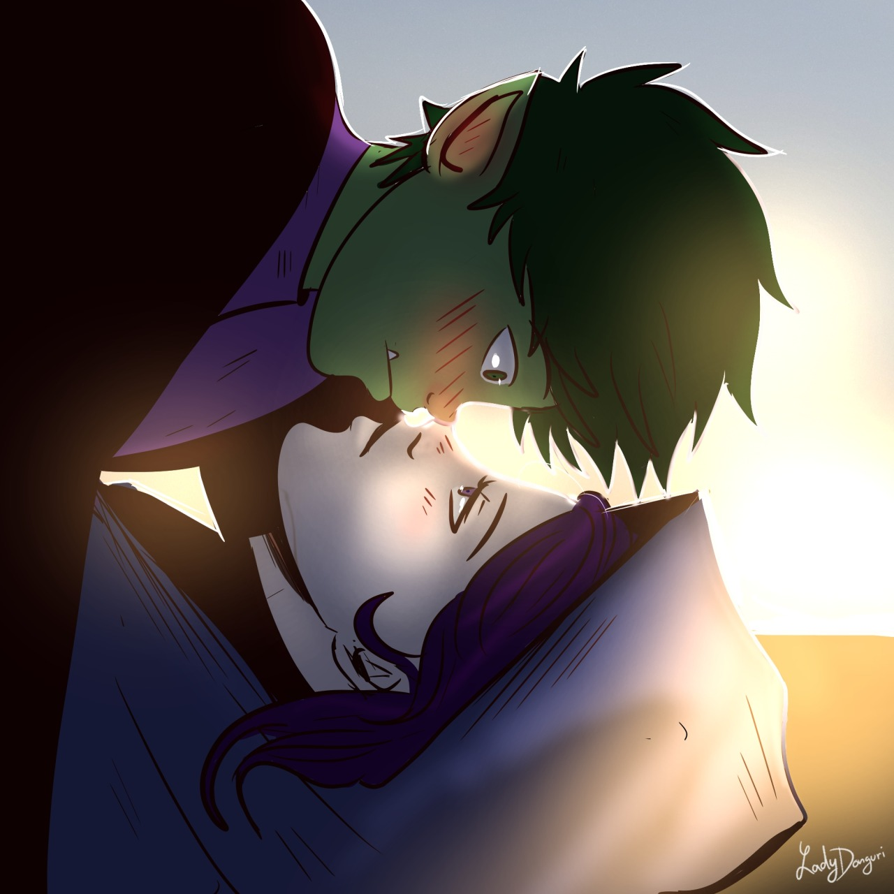 Here is some bbrae for you <3 #bbrae#Teen Titans#raven#beast boy #Raven and Beast Boy #garfield logan#Rachel Roth #TEEN TITANS GO
