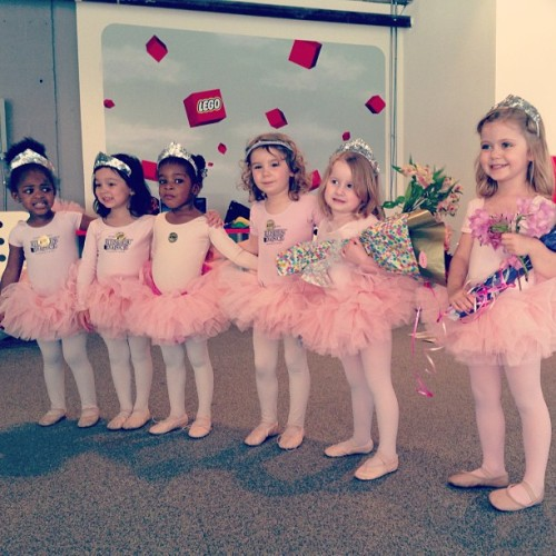 "Lennon and her dance class after their ""recital"" :)"