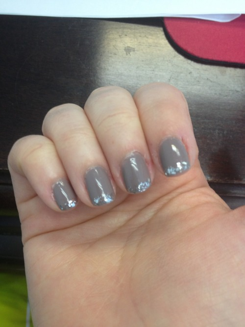 Grey and sparkles, two things that make me happy