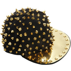 perlaflethe:  Amelie Metal Plate Spike Snapback ❤ liked on Polyvore (see more snap back hats)