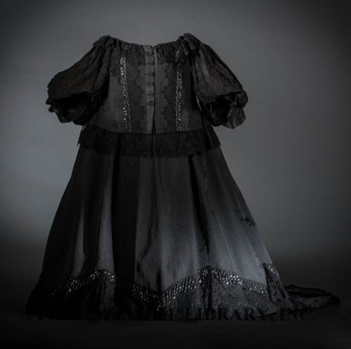 Gown worn by Queen Victoria ca. 1897 From the Helen Larson Historic Fashion Collection via the FIDM Museum Blog