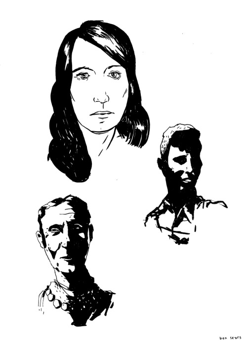old sketchbook faces